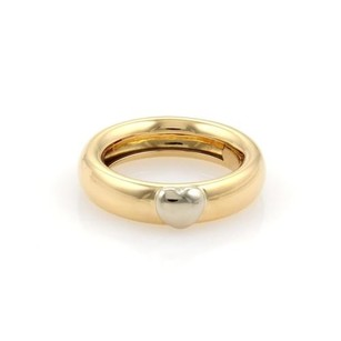 Tiffany & Co. Tiffany Co. Vintage 18k Two Tone Gold Puffed Heart Dome Band Ring