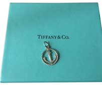 Tiffany & Co. Tiffany silver twist rope border edge circle anchor charm