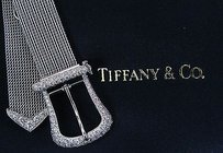 Tiffany & Co. Tiffany Co Platinum Buckle Diamond Bracelet 3.00ct 6-7 Inches Receipt