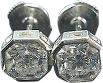 Tiffany & Co. Tiffany,Co,Platinum,Lucida,Diamond,Bezel,Set,Stud,Earrings,2.05ct,G-vs1