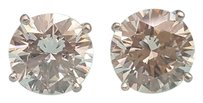 Tiffany & Co. Vintage Platinum 4.43 ctw Diamond Stud Earrings