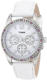 Timex Timex Leather Ladies Watch T2p385