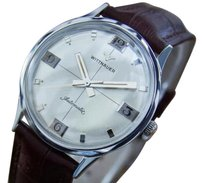 TNA Wittnauer Mens Swiss Made Automatic Stainless Steel 1960s Vintage Watch La90