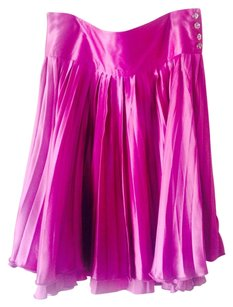 To the Max Pleated Silk Skirt Pink
