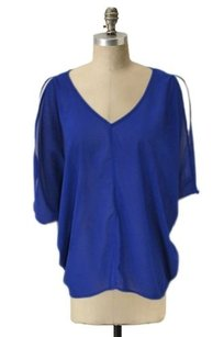 Tobi Oversized V Neck Cold Top Blue