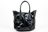 Tod's Tods Coated Canvas Tote in Black