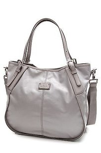 Tod's Tods Coated Canvas Sacca Tote in Gray