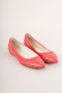 Tod's Tods Red White Tan Stitched Flats