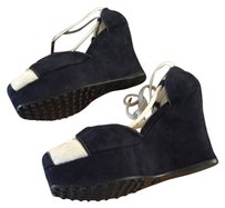 Tod's Blue and beige Wedges