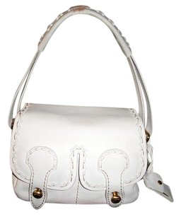 Tod's Italian Leather Pockets Gold Hardware Shoulder Bag