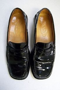 Tod's Italy Leather Driving Loafers Blacks Flats