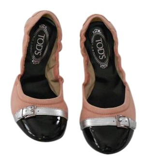 Tod's Made In Italy Pink/Black Flats