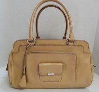 Tod's Tods Kate Media Leather Satchel in Camel
