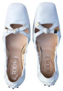 Tod's White and black Flats