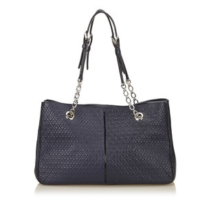 Tod's Blue Leather Navy Shoulder Bag
