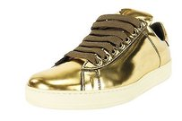 Tom Ford Womens Fashion Leather gold Flats