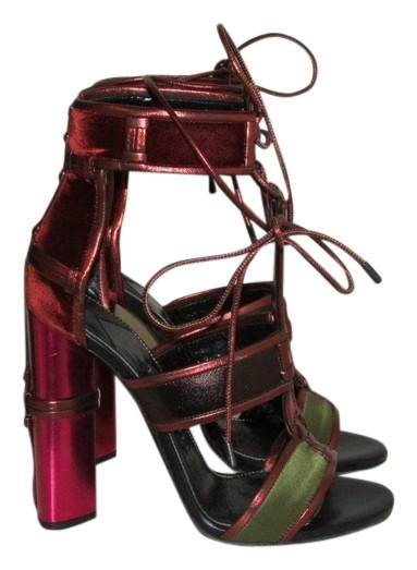 be0cf3cf5fe2ce Tom Ford Patchwork Cage Metallic Leather Sandals Size Size Size US 6.5  08ed15