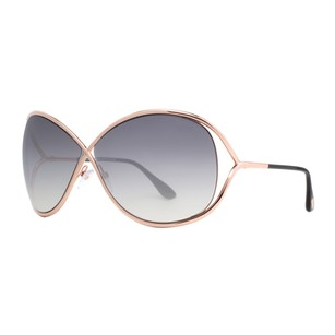 Tom Ford Tom Ford Miranda Rose Gold/Black Women's Soft Square Sunglasses