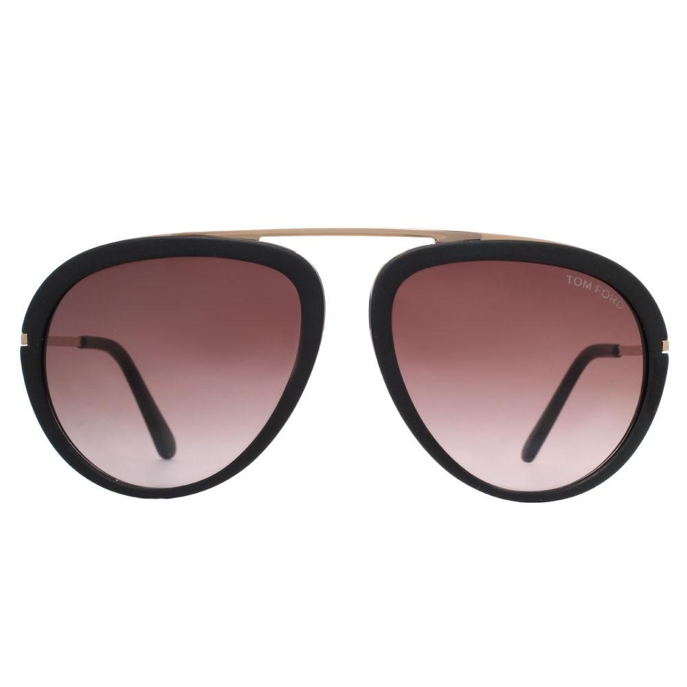 matte black aviators  Tom Ford Stacy Matte Black/Rose Gold Gradient Aviator Sunglasses ...