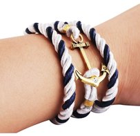 Tom Hope Handmade Twisted Anchor Wristband