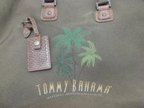 Tommy Bahama Tote in khaki / Brown Leather Trim