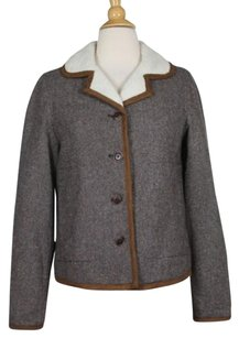 Tommy Hilfiger Womens Speckled Coat Brown Gray Yellow Orange Jacket