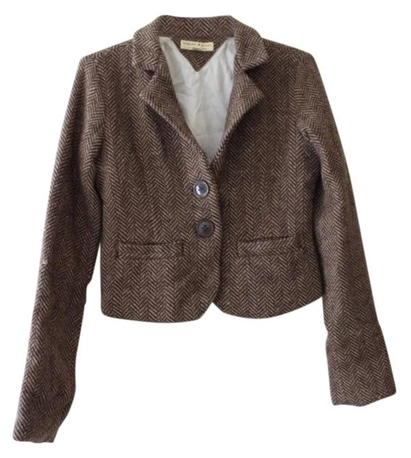 Tommy Hilfiger Brown and Tan Rn # 77806 Spring Jacket Size 8 (M ...