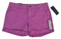 Tommy Hilfiger Womens Mauve Cuffed Jean Size Cut Off Shorts Purple