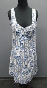 Tommy Hilfiger short dress Multi-Color Blue White Floral Cotton Blend Sleeveless Shift 479 on Tradesy