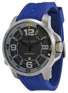 Tommy Hilfiger Tommy Hilfiger Men's 1791010 blue rubber band Stainless Steel Watch