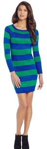Tommy Hilfiger short dress Blue and Green Stripes Winter on Tradesy