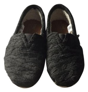 TOMS Forged Iron Grey Cable Knit Flats