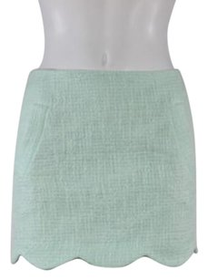 Topshop Top Shop Womens Tweed Skirt Seafoam