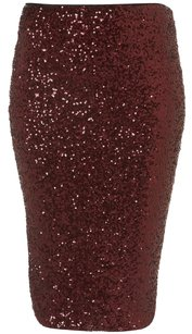 Topshop Zara Sequin Skirt Burgundy Oxblood