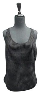 Torn by Ronny Kobo Stretchy Net Womens 2858a Top Black
