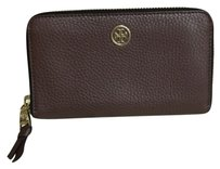 Tory Burch Tory Burch Pebbled Leather Large Wallet