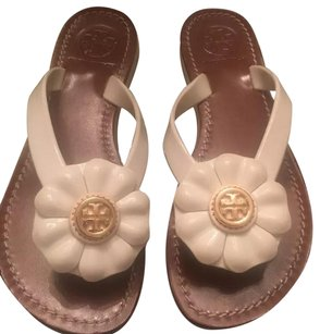 Tory Burch Adalia Flip Flops White Sandals