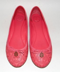 Tory Burch Chelsea Stitched Pink Flats