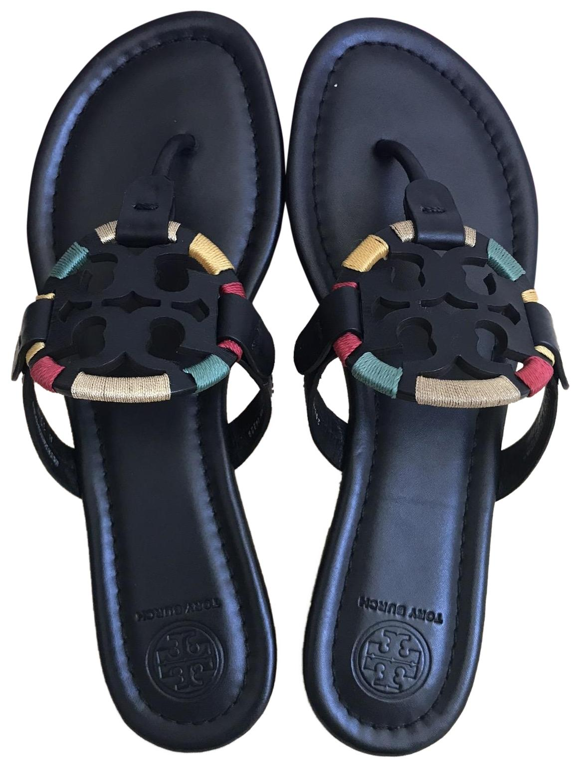23d5f2542d9d Tory Burch Black Embroidered 9.5m Miller Miller Miller Miller Sandals Size  US 9.5 Regular (M