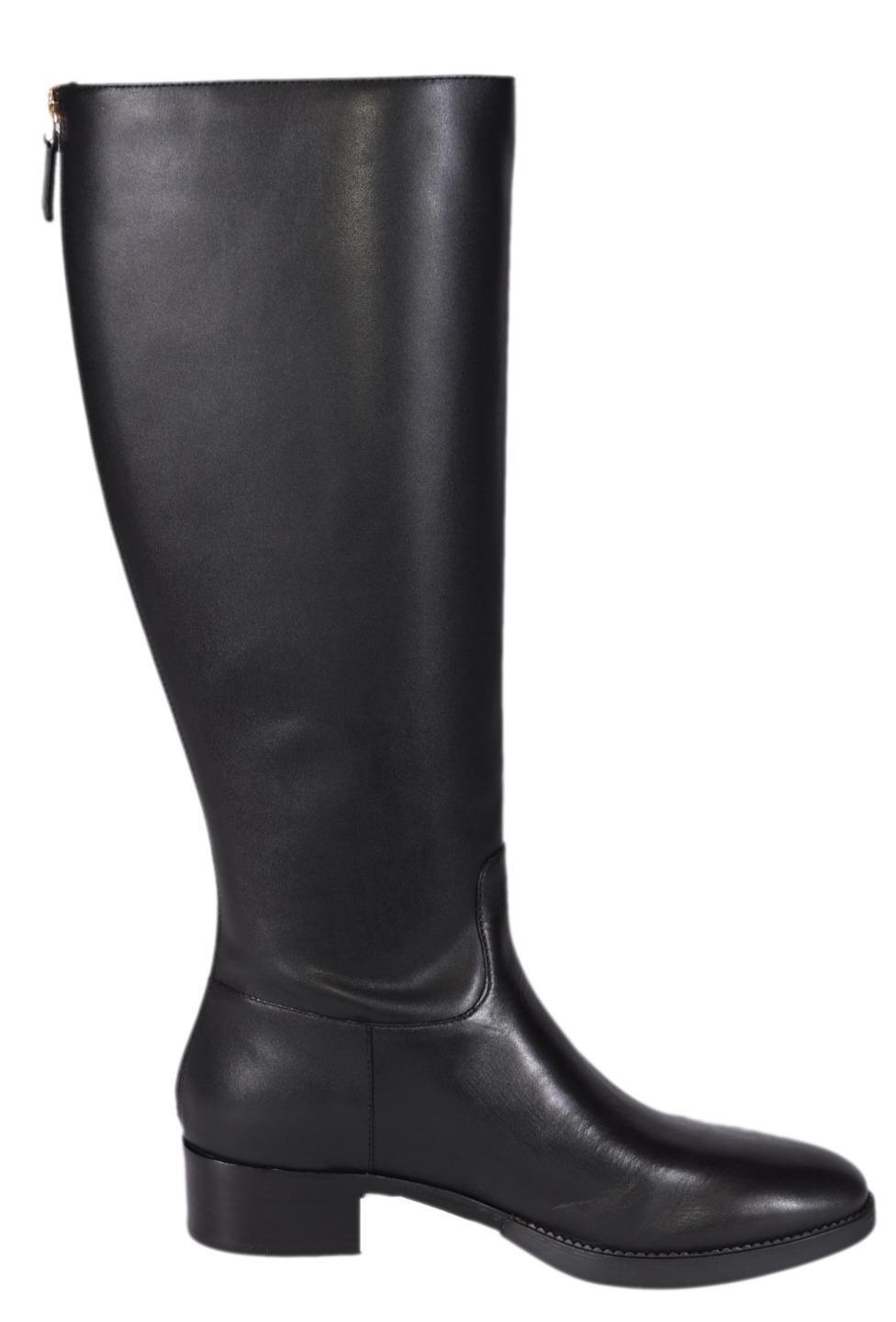 ff922b3aa96 Men s Women s-Tory Burch Black New New New Vegetable Leather Sidney Knee  High Riding