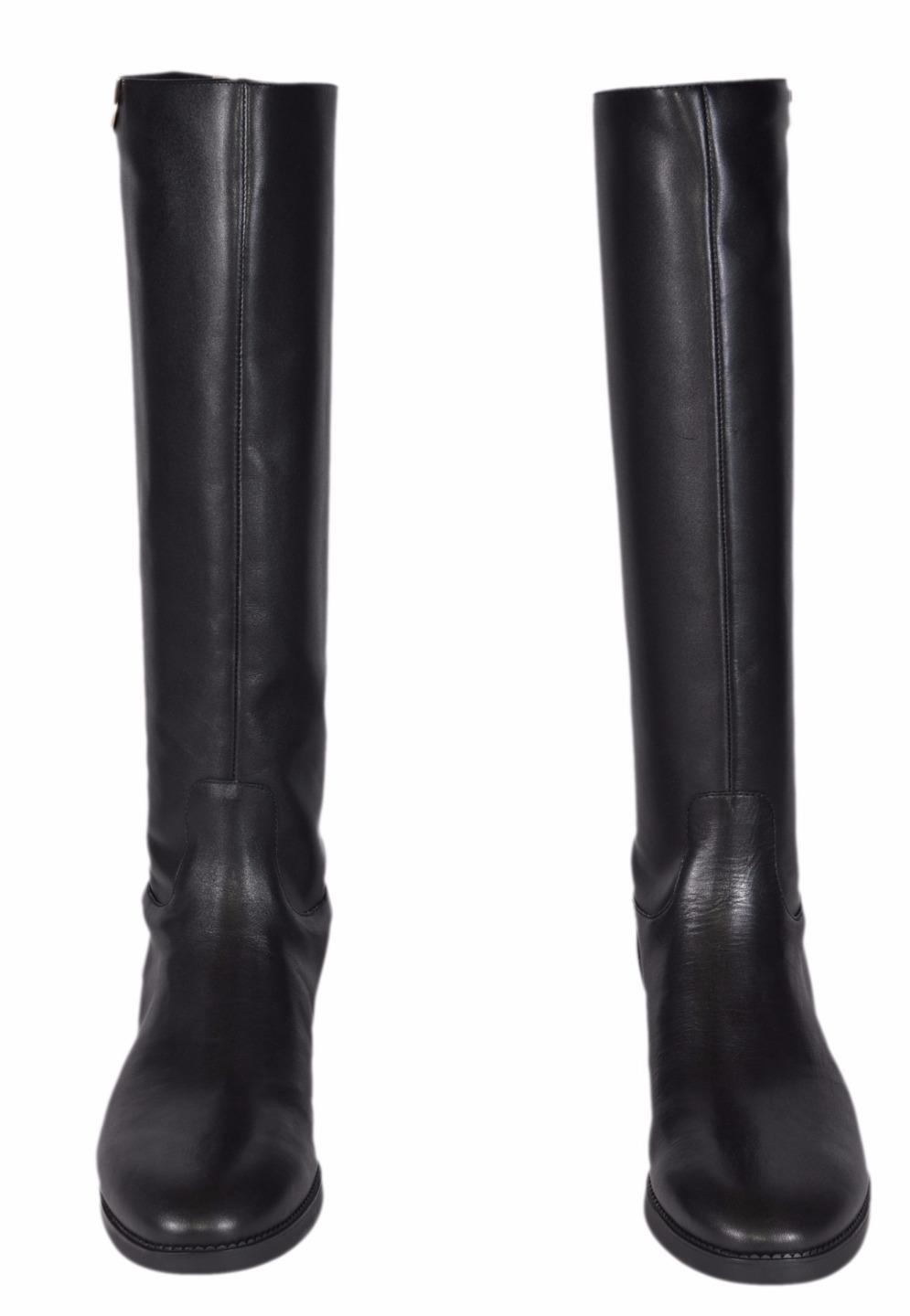 3abbaa91e40 ... Men s Women s-Tory Burch Black New New New Vegetable Leather Sidney  Knee High Riding ...