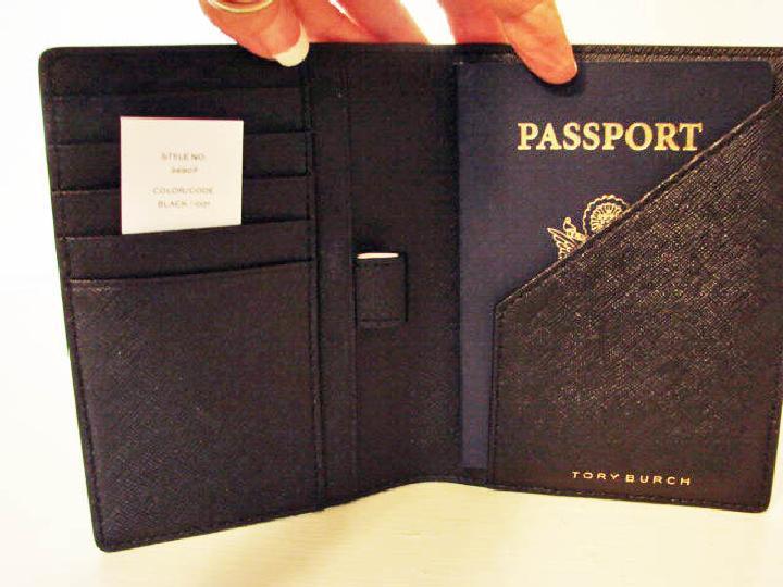 c78cd963475235 ... switzerland tory burch robinson black leather passport holder wallet.  12345 b71a4 e88cd