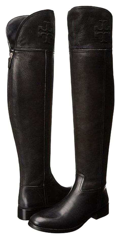 d8a08fa8784b Tory Burch Black Simone Over-the-knee Boots Booties Size Size Size ...