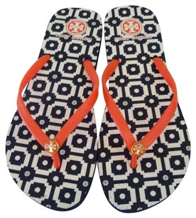 Tory Burch Blue and Orange Sandals