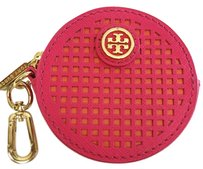 Tory Burch BRAND NEW WITH TAGS TORY BURCH ROBINSON PERFORATED CIRCLE ZIP COIN CASE KEY FOB