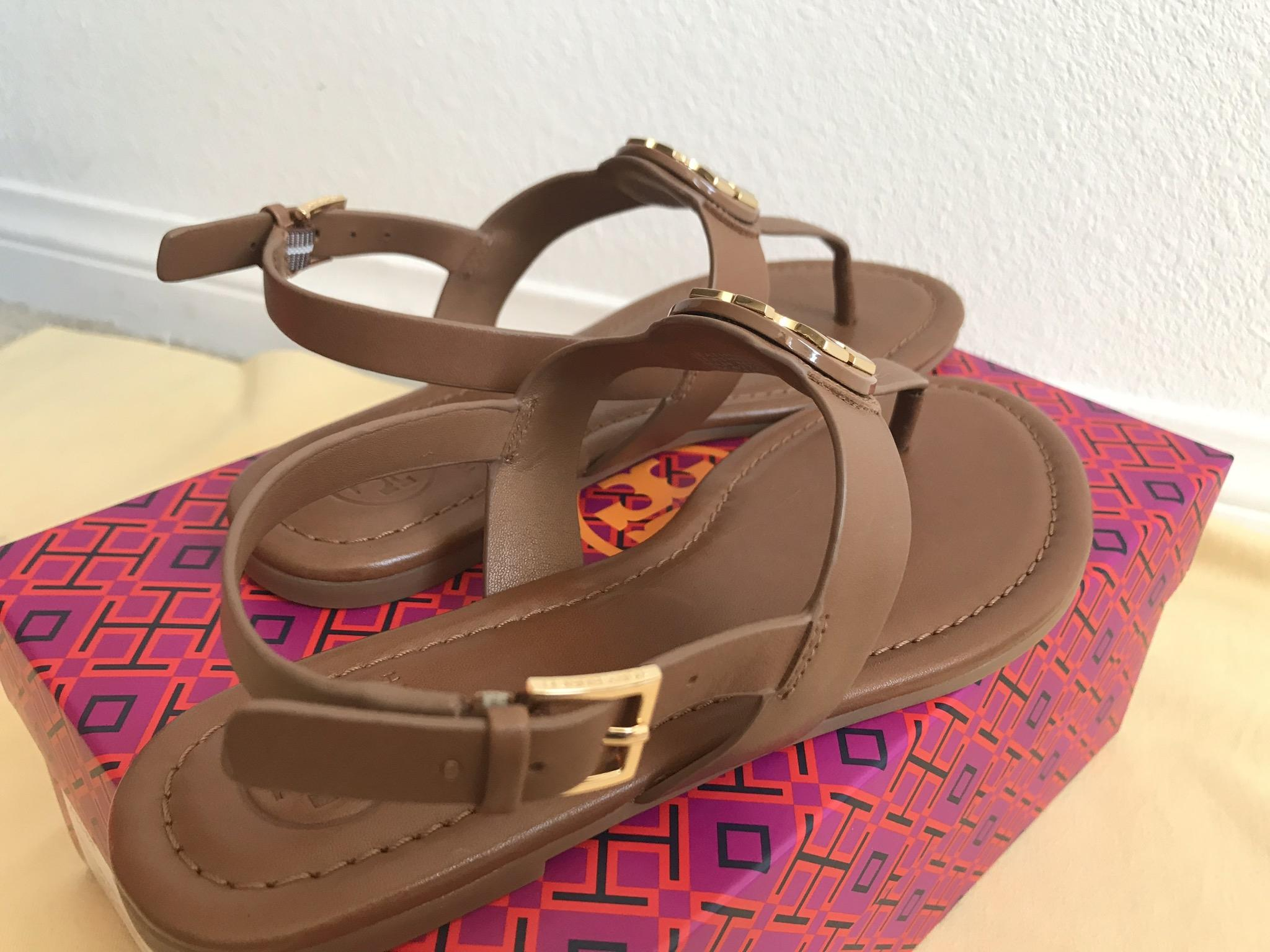 ea3bb65c2ad ... Tory Burch Brown Bryce Flat Thong Sandals Sandals Sandals Size US 6  Regular (M