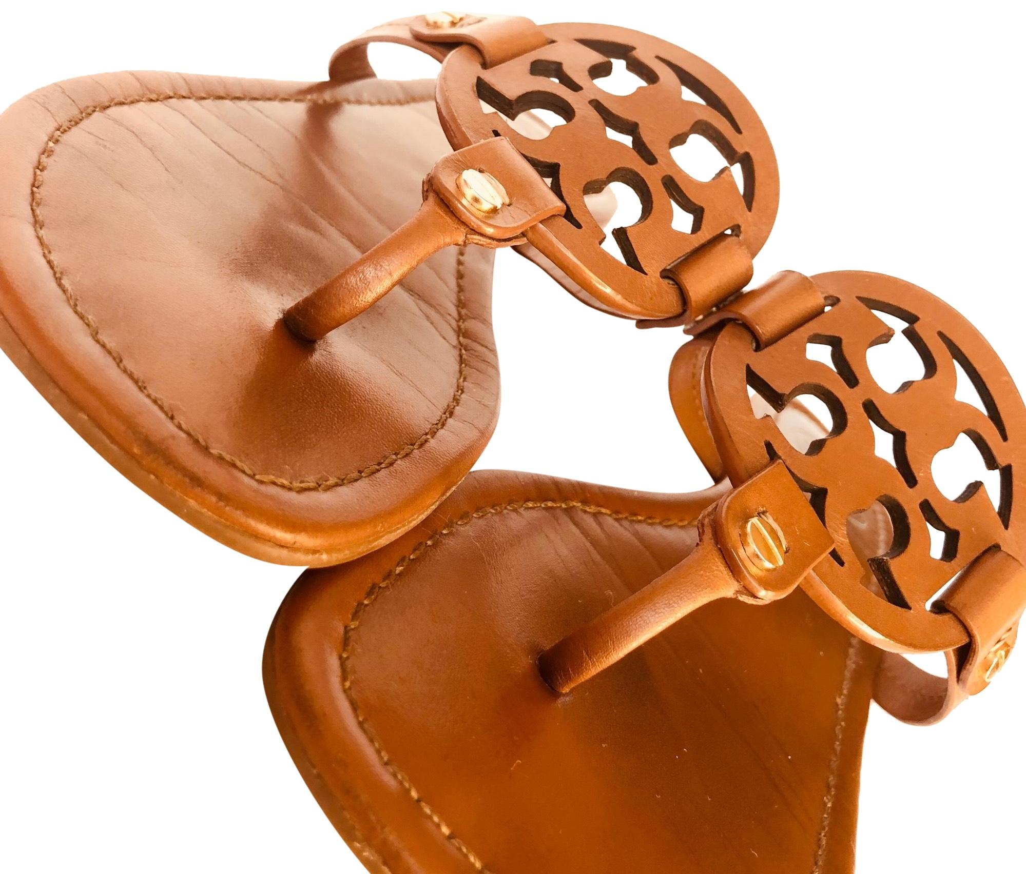 4f24ce8e3f75a Tory Burch Sandals Brown Miller Vintage Vachetta Sandals Burch Size US 8  Regular (M