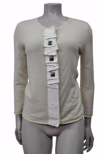 Tory Burch Cashmere Cardigan With Grosgrain Ribbon Trim Sweater