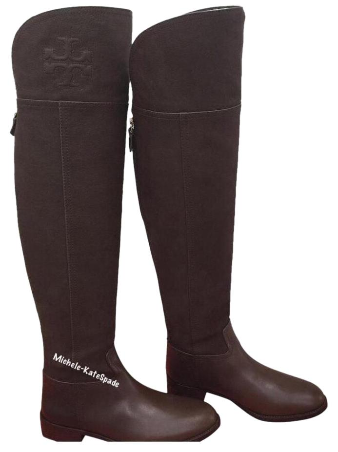 Tory Burch Chocolate Brown 8.5m Simone Over The Knee 35mm Vintage Buffalo Boots/Booties Size US 8.5 Regular (M, B)