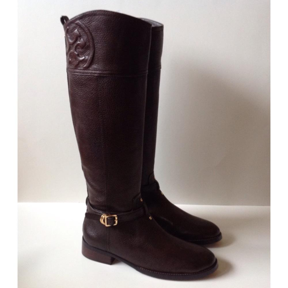 b2bdb1a2e ... canada tory burch coconut marlene riding boots booties size us 8  regular m b tradesy 5ad0a 97f33